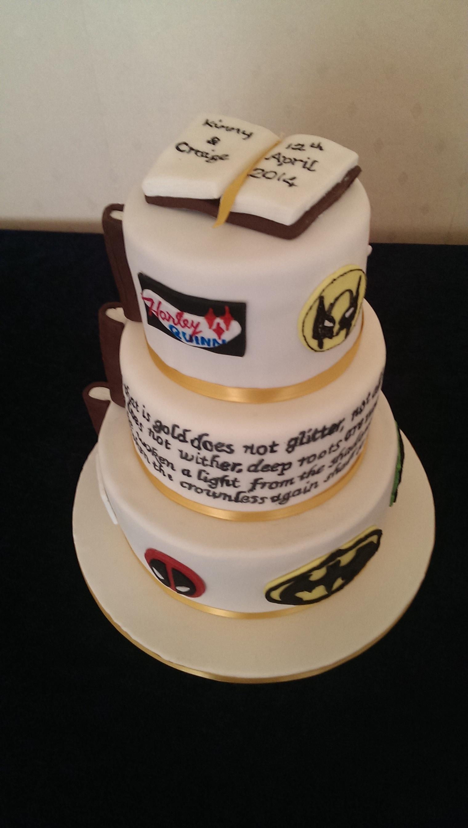 Comic Booknovel Theme - Comic Book Wedding Cake